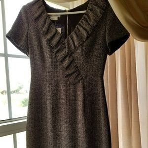 Tweed Kay Unger dress