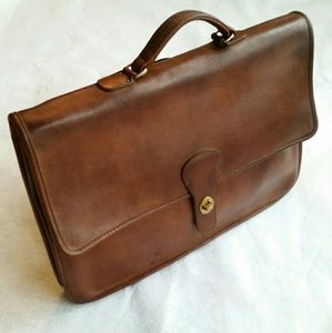 Vintage Coach Brown Shoulder Portfolio NYC 5160