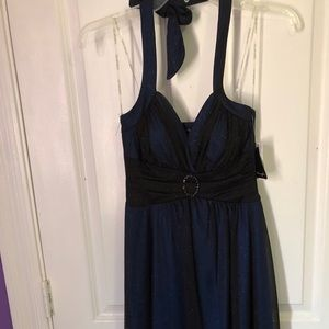 Blue and black Semi-formal dress
