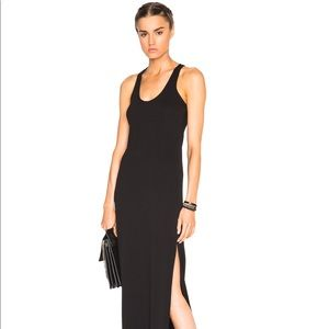 James Perse Double Split Black Maxi Dress