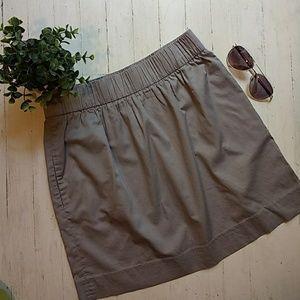PRICE DROP! J. Crew cotton flare skirt