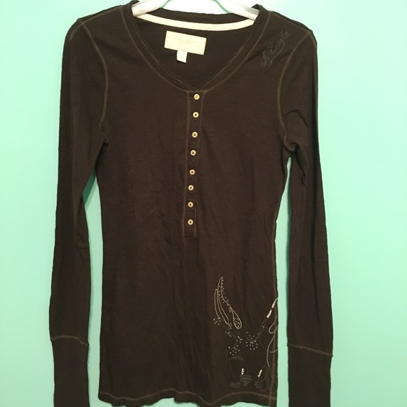 5179776274 American Eagle Outfitters Tops | Nwt American Eagle Long Sleeve Top ...