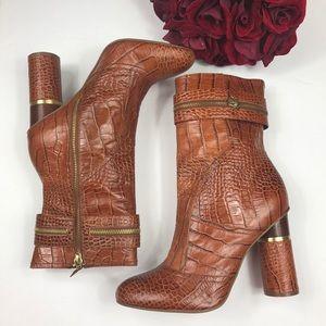 Women's BCBGirls Crocodile Print Leather Boots 10