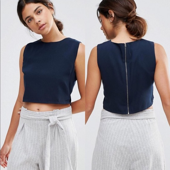 f984348ed96b9d Native Youth Zip Boat Neck Crop Top