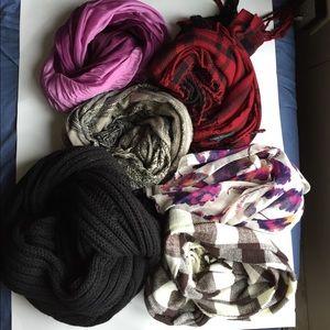 Scarf bundle! 6 scarves!