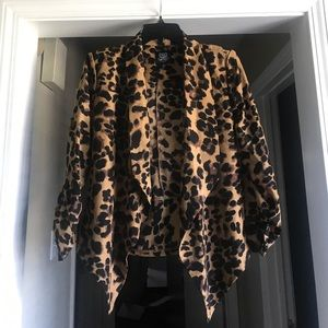 Leopard print blazer, size large