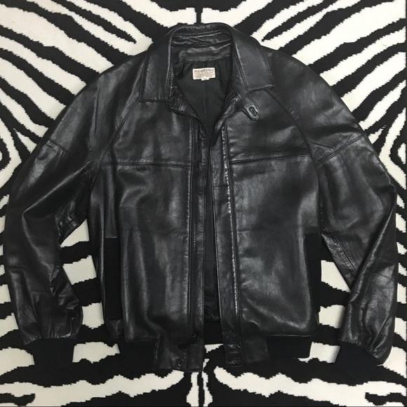 fa80d6a4c13 Yves Saint Laurent Jackets & Coats | Vintage Ysl Leather Bomber ...
