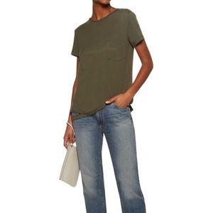 Helmut Lang Cut-Out Hem Shirt Army Green S