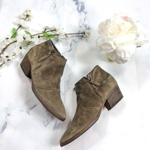 •Aquatalia• Suede Ankle Booties