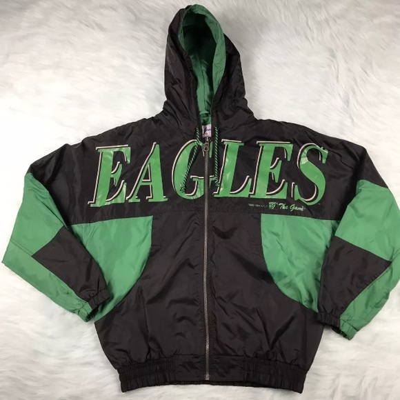 e0f8f3fa Retro Spell Out Vintage Philadelphia Eagles Coat