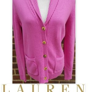 Wonderful Shawl collar Lauren sweater L
