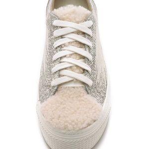 Loeffler Randall Miko Shearling platform sandals