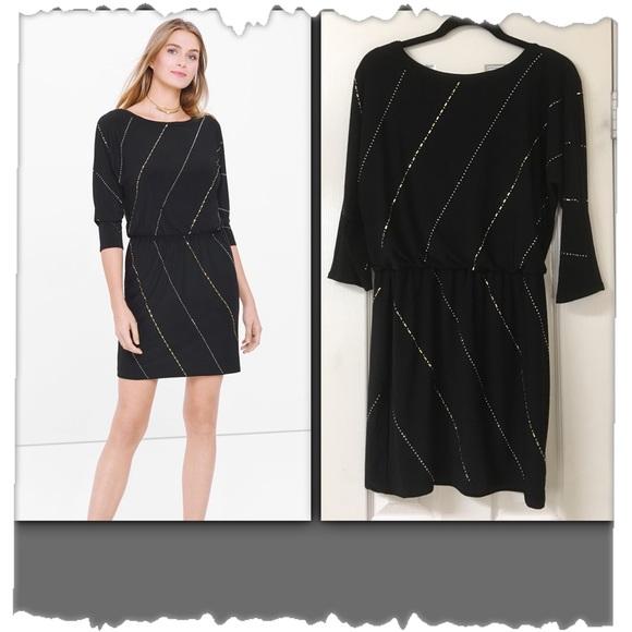 White House Black Market Dresses Nwt Black Blouson Dress Poshmark
