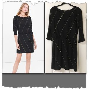 NWT! White House Black Market Black Blouson Dress