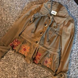 Tops - Floral Distressed Boutique Jacket