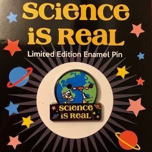 Jewelry - Science is Real Enamel Lapel Pin NWT
