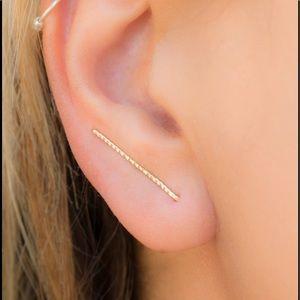 925/14K Ear climbers/Crawlers