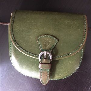 Green Mini Vintage Crossbody Bag Authentic Leather