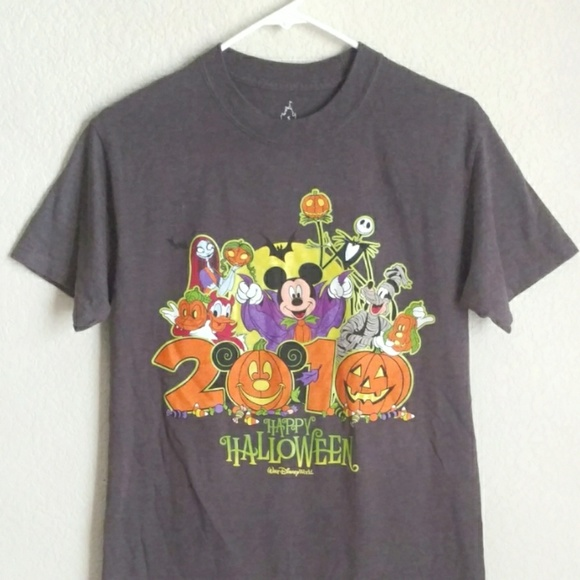 disney halloween tshirt top tee mickey jack glow