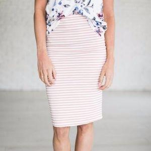 Dresses & Skirts - | pink striped pencil skirt |