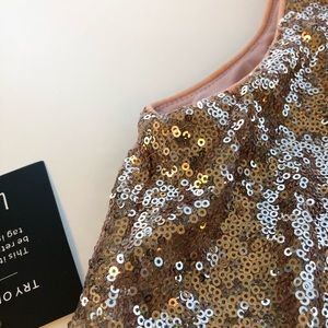 Lulu's Dresses - Rose Gold Sequin Maxi Dress
