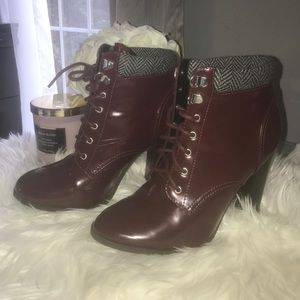 Fall Burgundy Boots Size 8.5