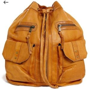 ASOS Leather Vintage Style Duffle Backpack