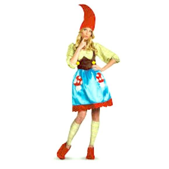 bnwt ms gnome plus sz mushroom halloween costume