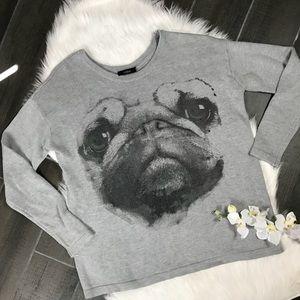 LF Millau oversized cozy pug face sweater