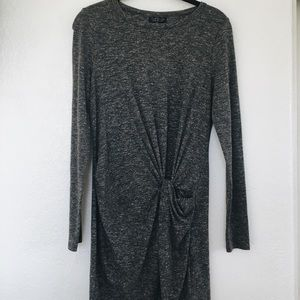 Topshop grey dress with side knot