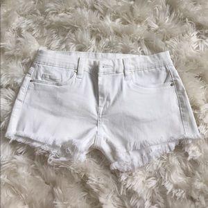 Blank NYC white cut off denim shorts