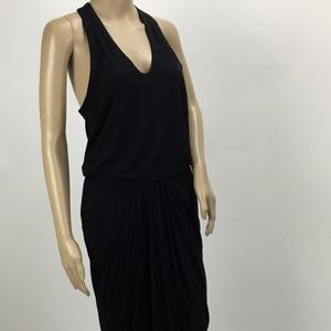 Helmut Lang Black Raceback Dress Medium