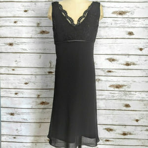 Evan Picone Black Lace Tulip Bottom Dress