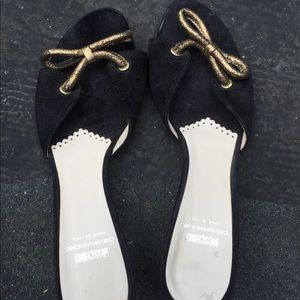 Authentic Moschino suede leather sandals sz8.5