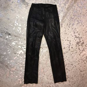Pre owned and worn BeBe Leather Pants, size 4