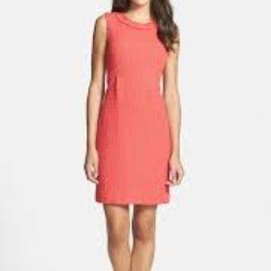 Kate Spade Terri coral tweed dress
