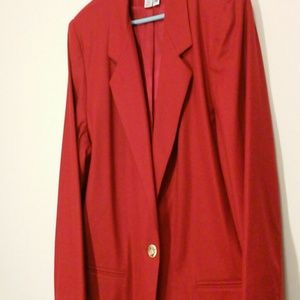 Red Wool Sag Harbor Blazer Size 20W