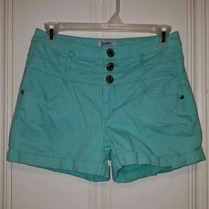 Light Blue High Waisted Shorts Size 5 or 27