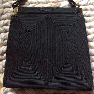 1940's/50's Genuine Corde Black Snap Handbag
