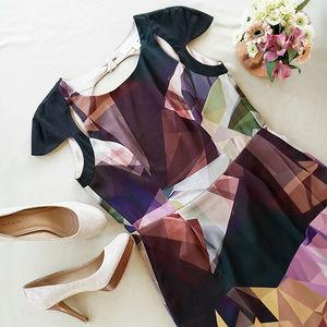Finders Keepers Geometric Print Dress