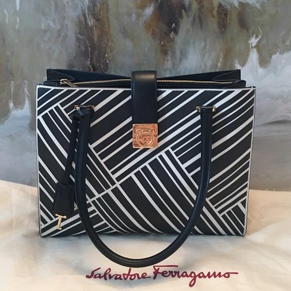 Salvatore Ferragamo Bags   Trade W Jeanine Ferragamo Marlene Black ... 956077f23b