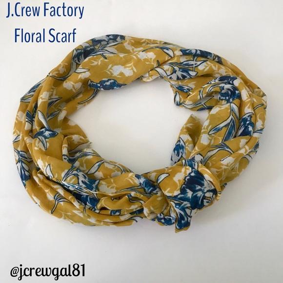 J.Crew Factory Accessories - J.Crew Factory Floral Scarf EUC