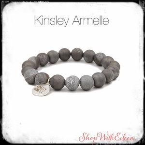 Kinsley Armelle GEODE - FROST SILVER BRACELET