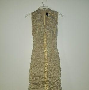 Gold Nicole Miller dress