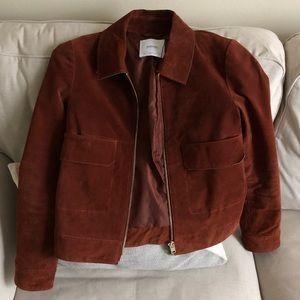 Jackets & Blazers - Mango brown suede jacket size XS