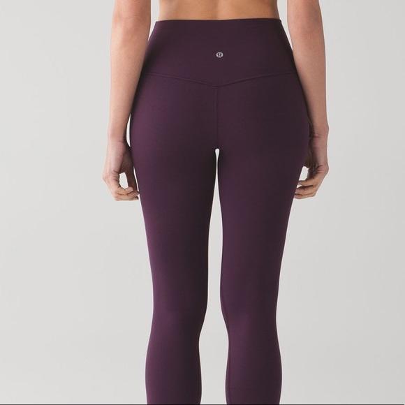 7bb6e15e12857 lululemon athletica Pants | Eggplant Lululemon Leggings | Poshmark