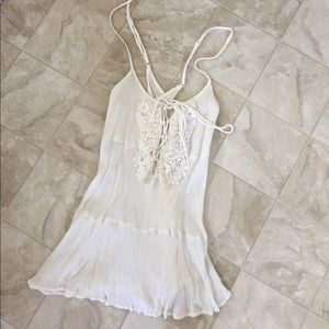 White adjustable strap ANGL tank top