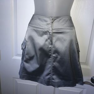 🆕Item! Silver Cache cargo mini skirt