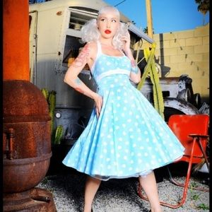 Pinup Couture Daisy Hearts Dress Size 2XL