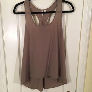 Frenchi size Large gray/brown shirt